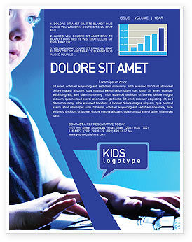 Technology, Science & Computers: Computer and Kid Newsletter Template #01695