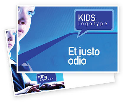 Computer and Kid Postcard Template, 01695, Technology, Science & Computers — PoweredTemplate.com