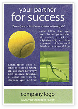 Tennis Ad Template, 01697, Sports — PoweredTemplate.com
