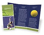 Sports: Tennis Brochure Template #01697