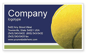 Tennis Business Card Template, 01697, Sports — PoweredTemplate.com
