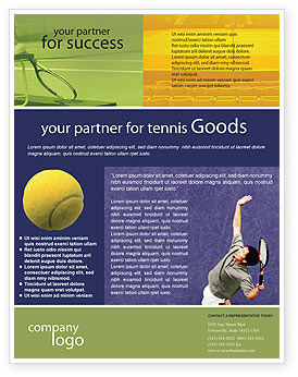 Tennis Flyer Template, 01697, Sports — PoweredTemplate.com
