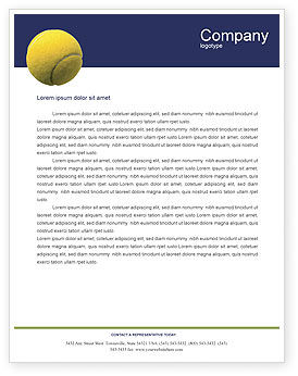 Sports: Tennis Letterhead Template #01697