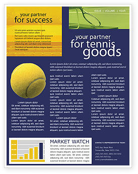 Sports: Tennis Newsletter Template #01697