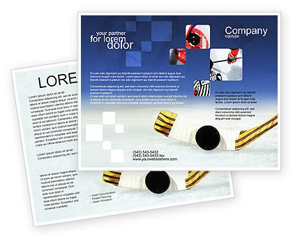 Hockey Brochure Template, 01700, Sports — PoweredTemplate.com