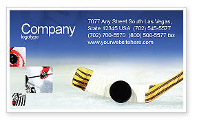 Hockey Business Card Template, 01700, Sports — PoweredTemplate.com