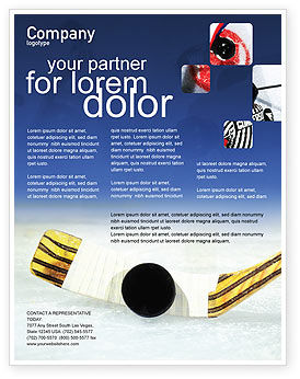 Hockey Flyer Template, Background in Microsoft Word, Publisher and ...