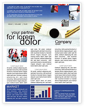 Hockey Newsletter Template, 01700, Sports — PoweredTemplate.com