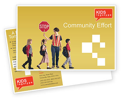 Education & Training: Social Education Postcard Template #01704