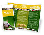 Agriculture and Animals: Pig Brochure Template #01708