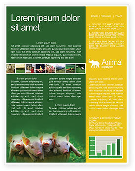 Agriculture and Animals: Pig Newsletter Template #01708