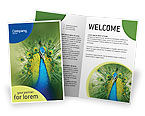 Agriculture and Animals: Peacock Brochure Template #01711