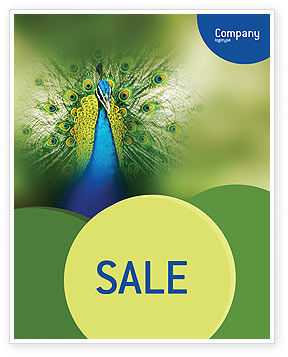 Peacock Sale Poster Template, 01711, Agriculture and Animals — PoweredTemplate.com