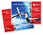 Sports: Flying Basketballer Brochure Template #01713