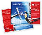 Sports: 飞行的篮球运动员宣传册模板 #01713
