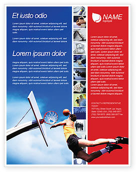 Sports: Flying Basketballer Flyer Template #01713