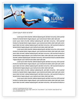 Flying Basketballer Letterhead Template