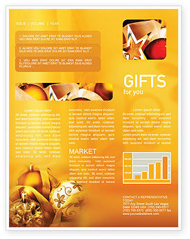 Christmas Tree Decorations Newsletter Template, 01714, Holiday/Special Occasion — PoweredTemplate.com