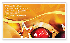 Holiday/Special Occasion: New Year Decorations Business Card Template #01715