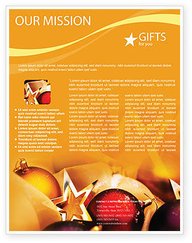 Holiday/Special Occasion: Neujahrsdekorationen Flyer Vorlage #01715