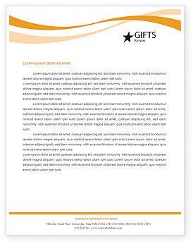 Elegant New Year Decorations Letterhead Template, 01715, Holiday/Special Occasion U2014  PoweredTemplate.com Regarding Free Microsoft Word Letterhead Templates