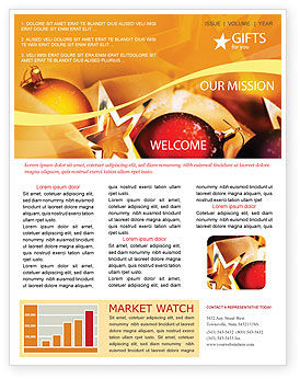 new year decorations newsletter template 01715 holidayspecial occasion poweredtemplatecom