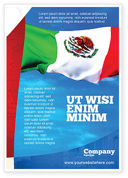 Flags/International: Mexicaanse Vlag Gratis Advertentie Template #01716