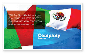 Mexican Flag Business Card Template, 01716, Flags/International — PoweredTemplate.com