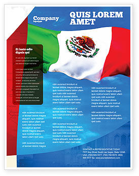 Flags/International: Mexican Flag Flyer Template #01716