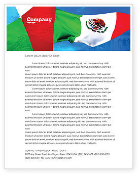 Mexican Flag Letterhead Template, 01716, Flags/International — PoweredTemplate.com