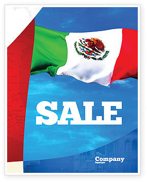 Mexican Flag Sale Poster Template, 01716, Flags/International — PoweredTemplate.com