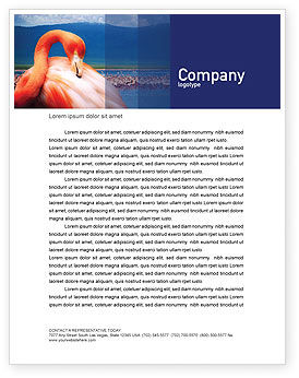 Agriculture and Animals: Flamingo Letterhead Template #01725