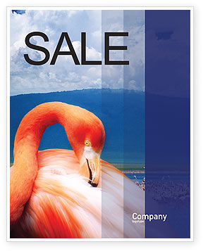 Flamingo Sale Poster Template, 01725, Agriculture and Animals — PoweredTemplate.com