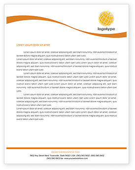 Global: World Discovery Letterhead Template #01727