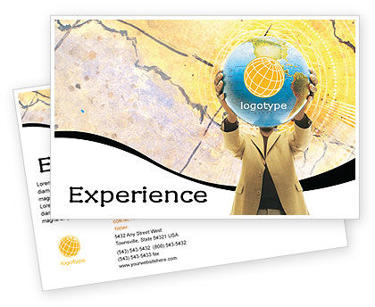 World Discovery Postcard Template, 01727, Global — PoweredTemplate.com