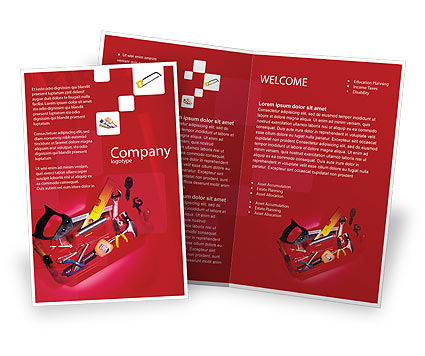 Tools Box Brochure Template, 01734, Utilities/Industrial — PoweredTemplate.com