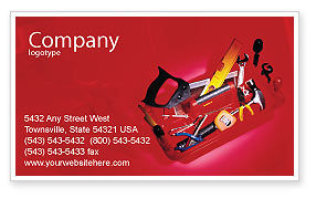 Tools Box Business Card Template, 01734, Utilities/Industrial — PoweredTemplate.com