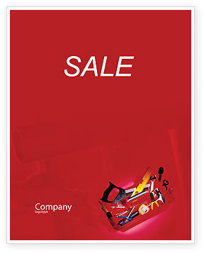 Tools Box Sale Poster Template, 01734, Utilities/Industrial — PoweredTemplate.com