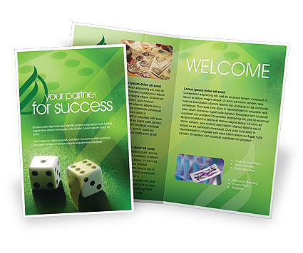 Dice On A Green Cloth Brochure Template