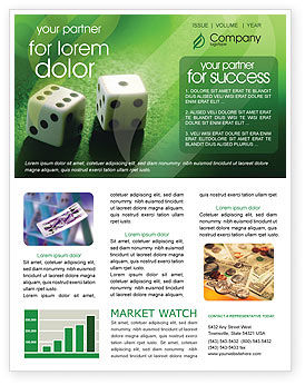 Art & Entertainment: Dice On A Green Cloth Newsletter Template #01735