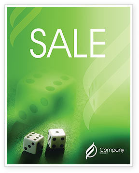 Dice On A Green Cloth Sale Poster Template