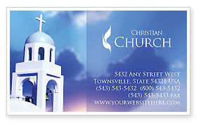 Belfry Business Card Template, 01739, Religious/Spiritual — PoweredTemplate.com