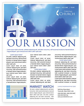 Belfry Newsletter Template, 01739, Religious/Spiritual — PoweredTemplate.com