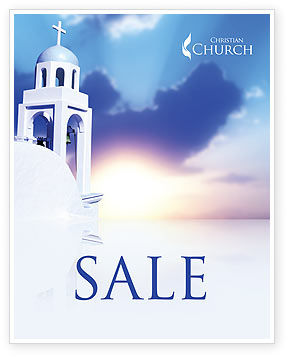 Religious/Spiritual: Belfry Sale Poster Template #01739