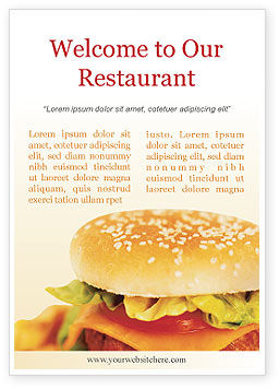 Fast Food Ad Template, 01741, Food & Beverage — PoweredTemplate.com