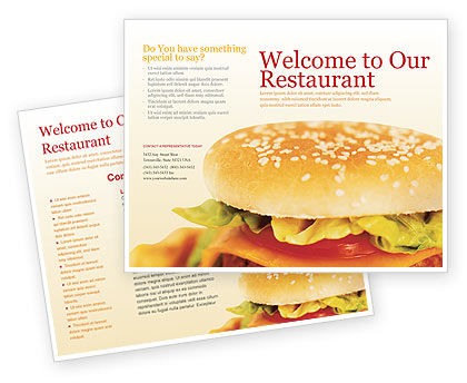 Modèle de Brochure de fast food, 01741, Food & Beverage — PoweredTemplate.com