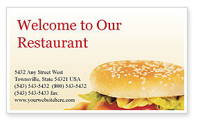 Food & Beverage: Fast Food Business Card Template #01741