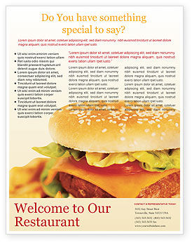 Fast Food Flyer Template, 01741, Food & Beverage — PoweredTemplate.com