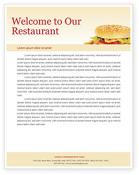 Fast food letterhead template layout for microsoft word for Restaurant letterhead templates free