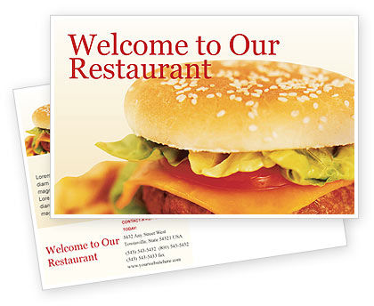Food & Beverage: Fast Food Postcard Template #01741